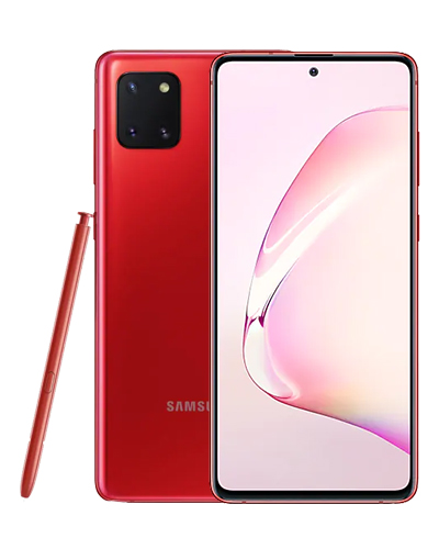 samsung note 10 lite rouge